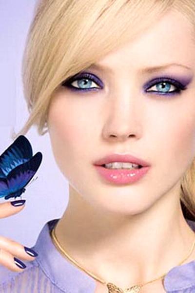 макияж для голубых глаз - выбор теней