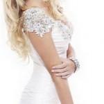 белое выпускное платье 2013