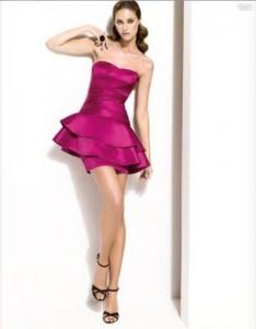 фасон платьев 2013, короткое фиолетовое платье
