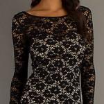 черное выпускное платье с кружевами