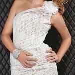 короткое белое платье с кружевами на выпускной 2013