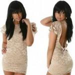 короткое платье, фасон 2013