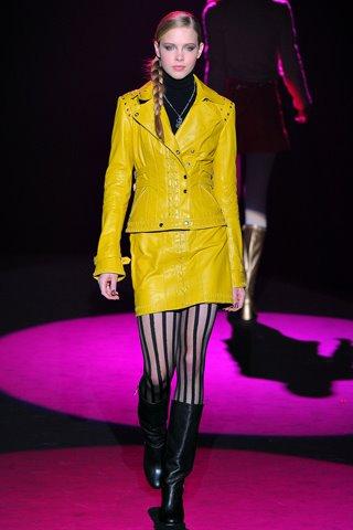 желтая женская кожаная куртка 2013