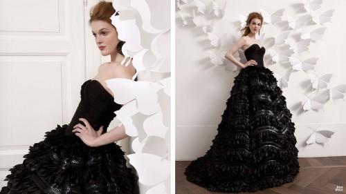 модное черное свадебное платье 2013 фото
