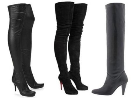 черные сапоги 2013 для женщин