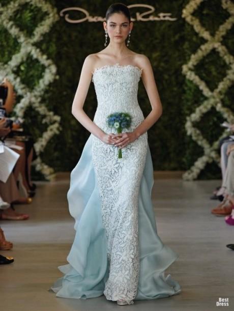 Модное свадебное платье 2013 oscar de la renta
