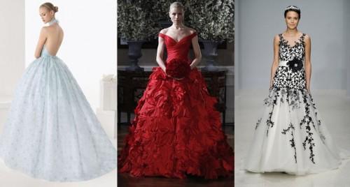 Красное свадебное платье 2013 фото