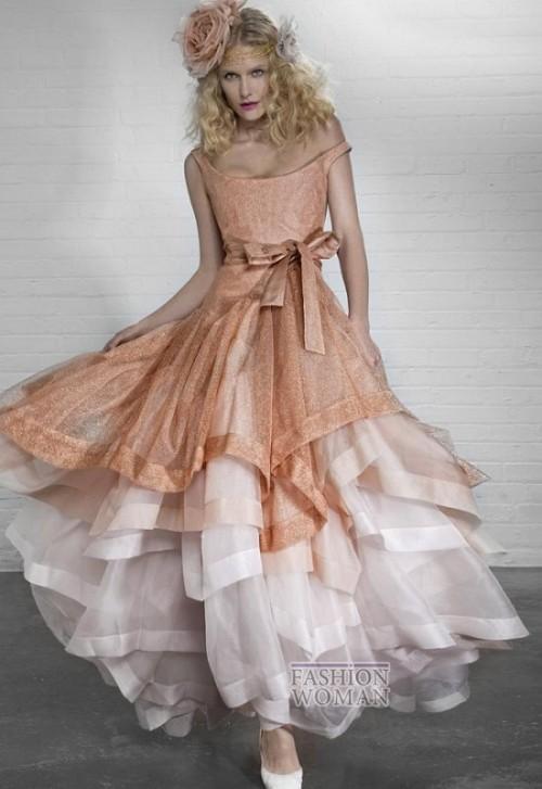 модное свадебное платье бежевое 2013