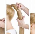 Хвосты-шиньоны из натуральных волос
