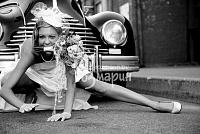 Невеста на ретро свадьбе