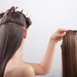 Наращиваем волосы трессами