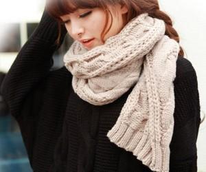 зимний женский шарф