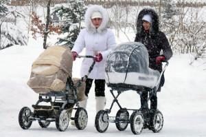 детская коляска на зиму