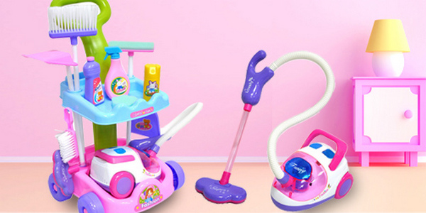 детские наборы для игры в уборку